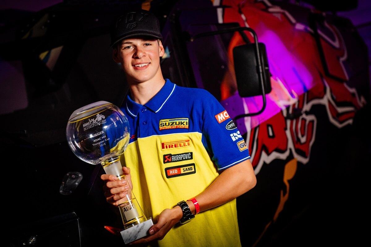 Jett Lawrence gewinnt MX Youngster Cup auf Suzuki.